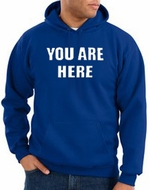You Are Here Hoodie Royal Hoody