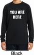 You Are Here Kids Dry Wicking Long Sleeve Shirt