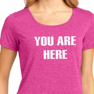 You Are Here Ladies Lace Back Shirt