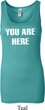 You Are Here Ladies Longer Length Tank Top