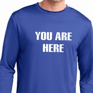 You Are Here Mens Dry Wicking Long Sleeve Shirt