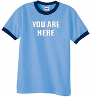 YOU ARE HERE Ringer T-shirts
