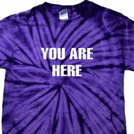 You Are Here Spider Tie Dye Shirt