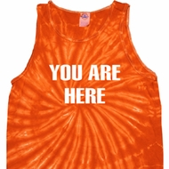 You Are Here Tie Dye Tank Top