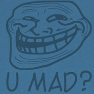 You Mad Juniors T-Shirt You Mad? Blue Tee Shirt