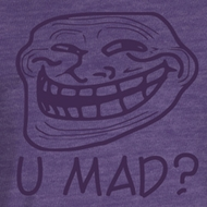 You Mad Juniors T-Shirt You Mad? Purple Heather Tee Shirt
