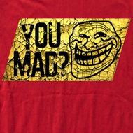 You Mad Shirt Mad Cracks Adult Red Tee T-Shirt