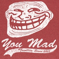 You Mad Shirt Since 2008 Adult Heather Red Tee T-Shirt