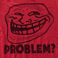 You Mad Shirt U Troll Face Problem Adult Red Tee T-Shirt