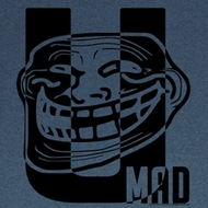 You Mad T-Shirt Big U Adult Blue Heather Tee Shirt