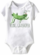 Young Grasshopper Funny Baby Romper White Infant Babies Creeper