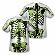 Zombie 8 Bit Skeleton Sublimation Kids Shirt Front/Back Print