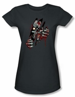 Zombie Juniors T-Shirt Clawing Free Charcoal Tee Shirt