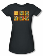Zombie Juniors T-Shirt Five Ways Charcoal Tee Shirt