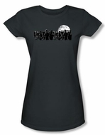 Zombie Juniors T-Shirt Moon Charcoal Tee Shirt