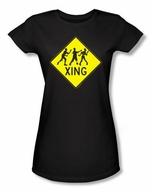 Zombie Juniors T-Shirt Xing Black Tee Shirt