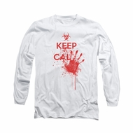 Zombie Shirt Keep Cal Long Sleeve White Tee T-Shirt