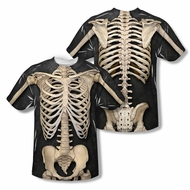 Zombie Skeleton Costume Sublimation Shirt Front/Back Print