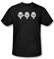 Zombie T-Shirt Hear No Heads Adult Black Tee Shirt