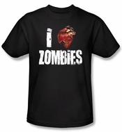 Zombie T-Shirt I Bloody Heart Zombies Adult Black Tee Shirt