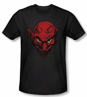 Zombie T-Shirt Sketchy Details Black Adult Slim Fit Tee Shirt