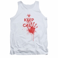 Zombie Tank Top Keep Cal White Tanktop