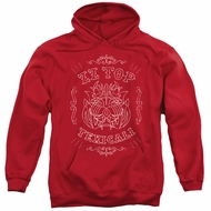 ZZ Top Hoodie Texicali Demon Red Sweatshirt Hoody