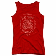 ZZ Top Juniors Tank Top Texicali Demon Red Tanktop