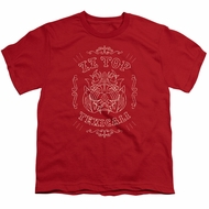 ZZ Top Kids Shirt Texicali Demon Red T-Shirt