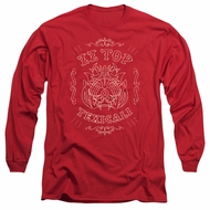 ZZ Top Long Sleeve Shirt Texicali Demon Red Tee T-Shirt