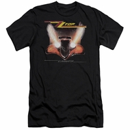 ZZ Top Slim Fit Shirt Eliminator Cover Black T-Shirt