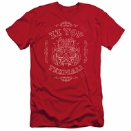 ZZ Top Slim Fit Shirt Texicali Demon Red T-Shirt