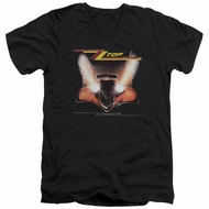 ZZ Top Slim Fit V-Neck Shirt Eliminator Cover Black T-Shirt