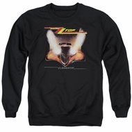 ZZ Top Sweatshirt Eliminator Cover Adult Black Sweat Shirt