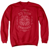 ZZ Top Sweatshirt Texicali Demon Adult Red Sweat Shirt