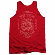 ZZ Top Tank Top Texicali Demon Red Tanktop