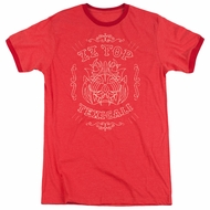 ZZ Top Texicali Demon Red Ringer Shirt