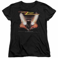 ZZ Top Womens Shirt Eliminator Cover Black T-Shirt