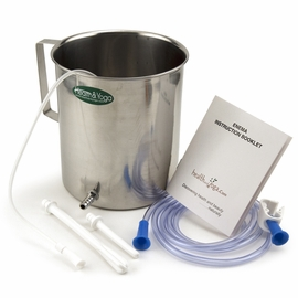2 Liter Stainless Steel Enema Bucket Kit - Durable and Affordable