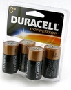 A 4 Pack of Duracell C-Cell Batteries