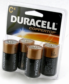 Duracell C Batteries - 4