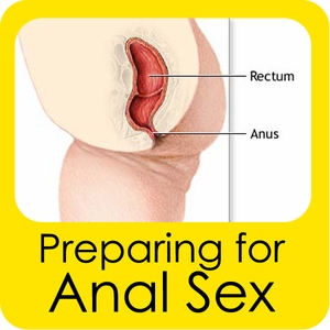 Women preparing for anal sex