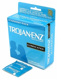 Trojan Enz Lubricated Condoms - 36 pack - The Gold Standard of Condoms