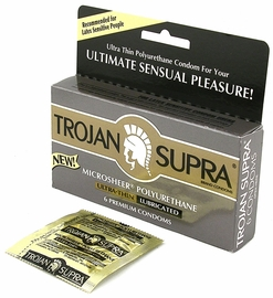 Don't Let A Latex Allergy Blueball You - Get Trojan Supra Non-Latex Condoms
