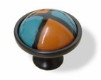 35Mm Ceramic Quadrant Knob Mix Southwestern L-PBF132-184-C