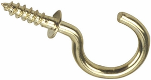 "Brass Plated Cup Hook - 1 1/2"" (100 Pieces)"