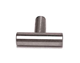 "Brushed Stainless Steel Bar Knob - 1-9/16"" (40mm) L-P02140-SS-C"