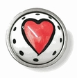 Ceramic Hearts Satin Nickel Knob - 35mm LQ-PBF144-ORG-10506