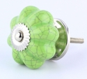 Cracked Green Ceramic Knob - 1 3/4""