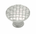 "Satin Nickel Basket Weave Knob 1-3/16"" L-PN0416-SN-C"